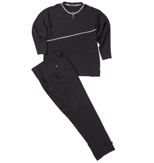ジップクルーTシャツセット ブラック 0027-4123-2 【大きいサイズ】[3L・4L・5L]