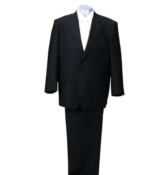 大きいサイズ メンズ 2ツ釦礼服 ブラック 1172-5300-1 [3L・4L・5L・6L・7L・8L]