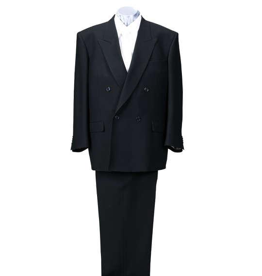 大きいサイズ メンズ 4ツ釦1ツ掛礼服 ブラック 1172-5301-1 [3L・4L・5L・6L・7L・8L]