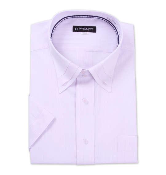 ボタンダウン半袖ワイシャツ 大きいサイズ メンズ HIROKO KOSHINO HOMME ドゥエマイター ピンク 1177-8254-1 [3L・4L・5L・6L・7L]