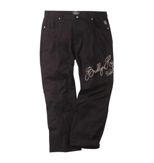 【大きいサイズ】【メンズ】 GLADIATE パイソンジャガード刺繍パンツ ブラック 1154-8370-1 [100・110・120・130]