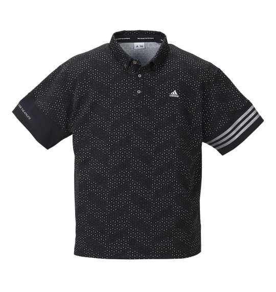 大きいサイズ メンズ adidas golf ジオメトリックプリント半袖B.Dシャツ ブラック 1178-8220-2 [4XO・5XO・6XO・7XO]