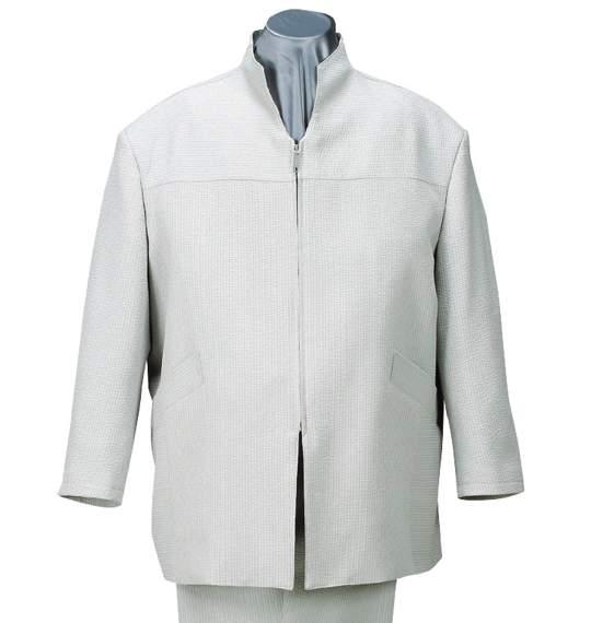 スタンドカラーシャツセット グレー 0027-5100-1 【大きいサイズ】[3L・4L・5L]
