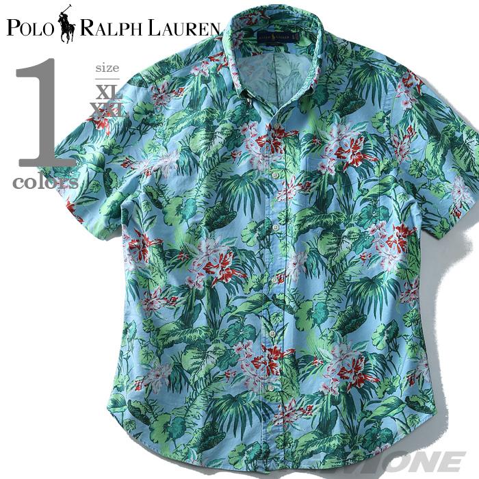 【大きいサイズ】【メンズ】POLO RALPH LAUREN(ポロ ラルフローレン) 花柄半袖ボタンダウンシャツ【USA直輸入】710700722001