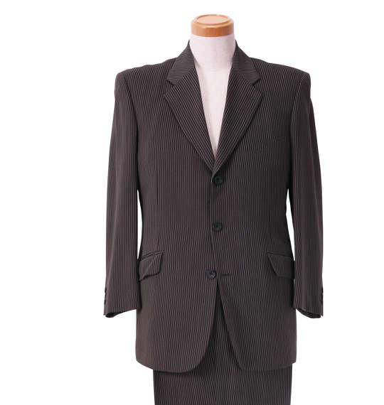 大きいサイズ メンズ シングル3ツ釦スーツ グレー 1122-5318-1 [2L・2TL・3L・5L・TLL]