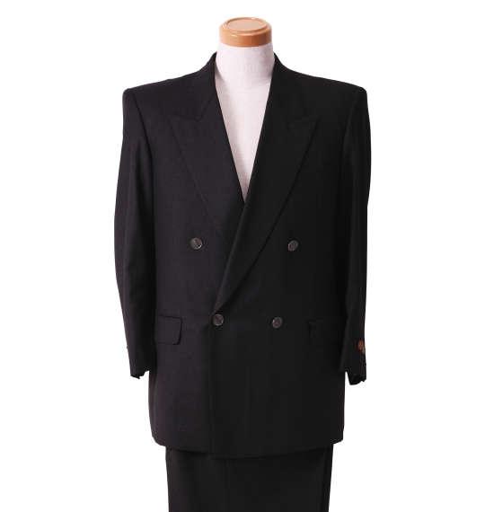 大きいサイズ メンズ ダブル4ツ釦1ツ掛スーツ チャコールグレー 1122-5356-1 [2L・3L・5L]