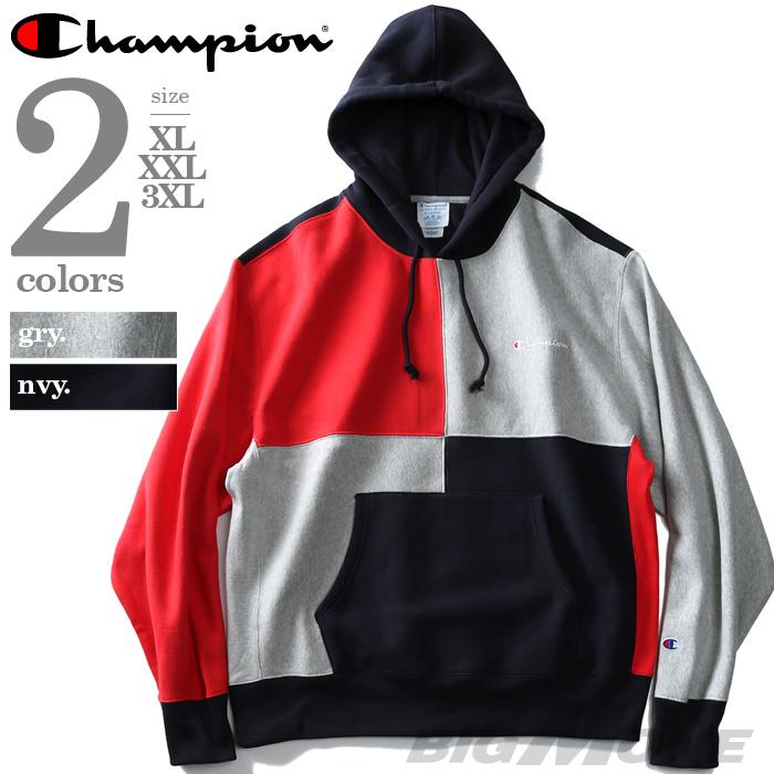 【大きいサイズ】【メンズ】Champion(チャンピオン) プルパーカー【USA直輸入】s3370
