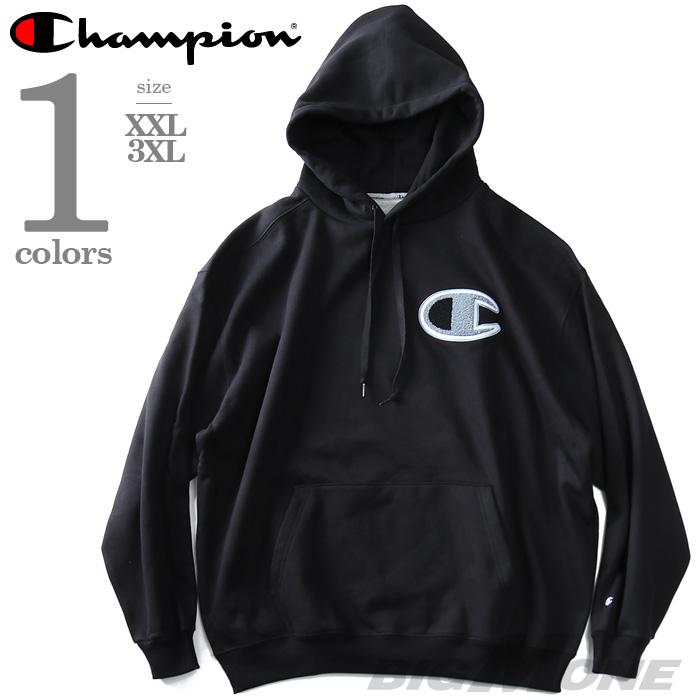 【大きいサイズ】【メンズ】Champion(チャンピオン) ビッグロゴプルパーカー【USA直輸入】s2202