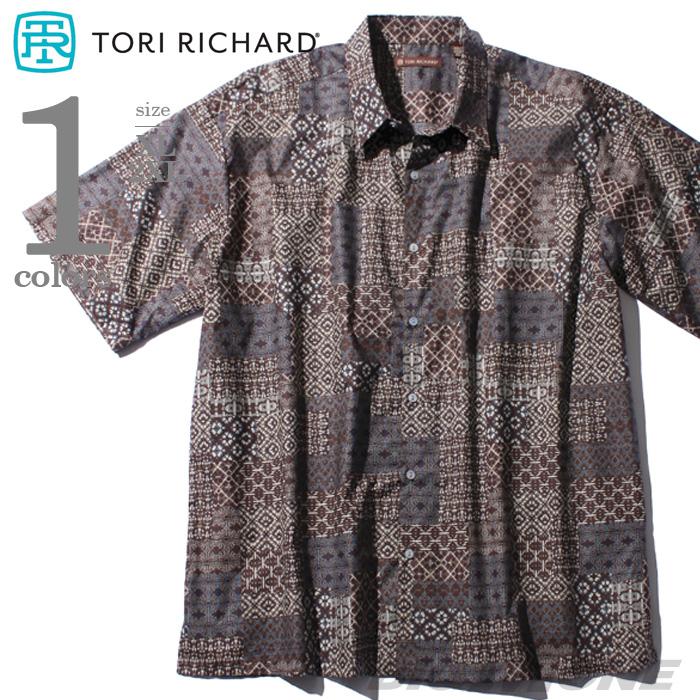 【大きいサイズ】【メンズ】TORI RICHARD(トリリチャード) 半袖アロハシャツ MADE IN HAWAII 03006453