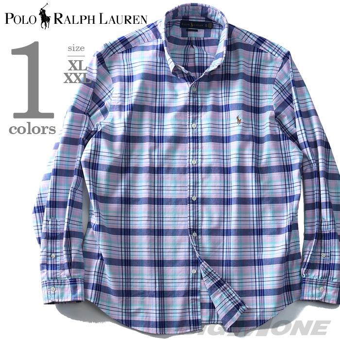 【大きいサイズ】【メンズ】POLO RALPH LAUREN(ポロ ラルフローレン) チェック柄長袖ボタンダウンシャツ【USA直輸入】710708869002