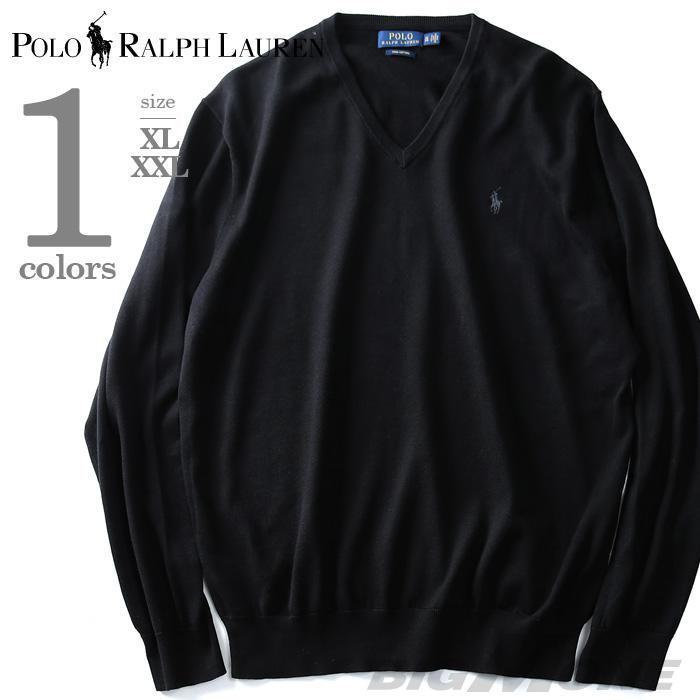 大きいサイズ メンズ POLO RALPH LAUREN(ポロ ラルフローレン) 無地Vネックセーター【USA直輸入】710682076005