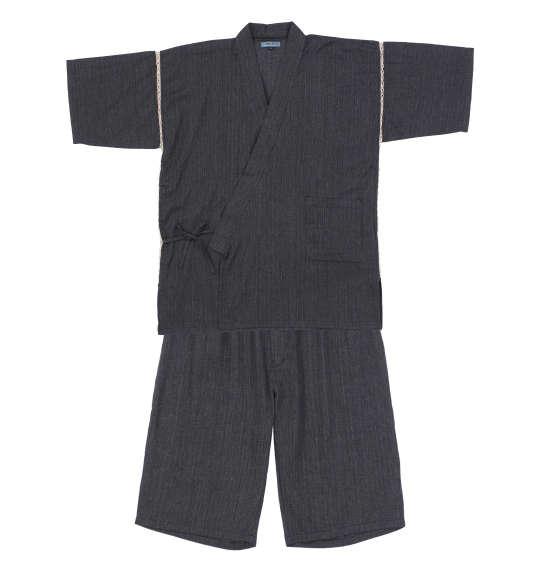 大きいサイズの服 大きいサイズ メンズ 百貨店 メンズファッション ファッション 3L 4L 5L 6L 7L 8L 甚平 ブラック ゆったり しじら織り 2020新作 作務衣 Mc.S.P じんべえ 浴衣 おしゃれ 1259-1224-1