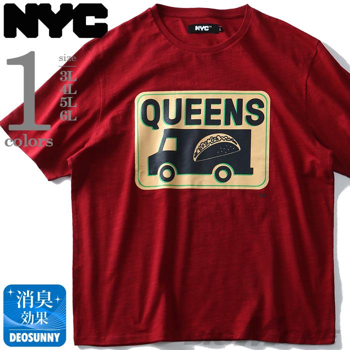 大きいサイズの服 大きいサイズ メンズ 開店祝い メンズファッション ファッション 3L 4L 5L ランキングTOP5 6L 7L 8L 半袖 ストリート プリント スラブ azt-1902115 クールビズ Tシャツ QUEENS 半そで 半袖Tシャツ NYC おしゃれ カジュアル