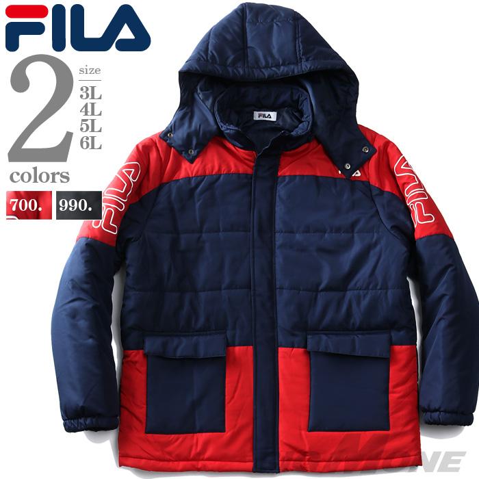 大きいサイズの服 大きいサイズ メンズ メンズファッション ファッション 市場 3L 4L 5L 6L 7L 8L アウター FILA 中綿 アメカジ フィラ メンズジャケット 440-955 ミリタリー ジャケット ブランド セパレートフード カジュアル 超激安 ブルゾン