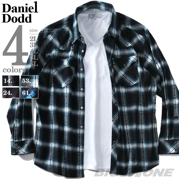 大きいサイズの服 大きいサイズ メンズ ファッション 3L 4L 5L 6L 7L 8L 長袖 長そで カジュアル シャツ 長袖シャツ 936-190421 DODD アンサンブル 上等 長袖カジュアルシャツ 最安値 コーデュロイ DANIEL カジュアルシャツ チェック柄 アメカジ プリント ウエスタン