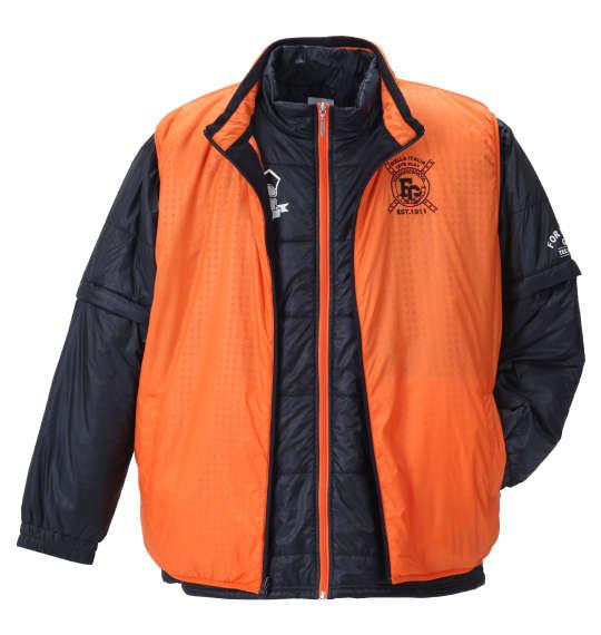 【大きいサイズ】【メンズ】 FILA GOLF 5WAYジャケット ネイビー×オレンジ 1173-8325-1 [3L・4L・5L・6L]
