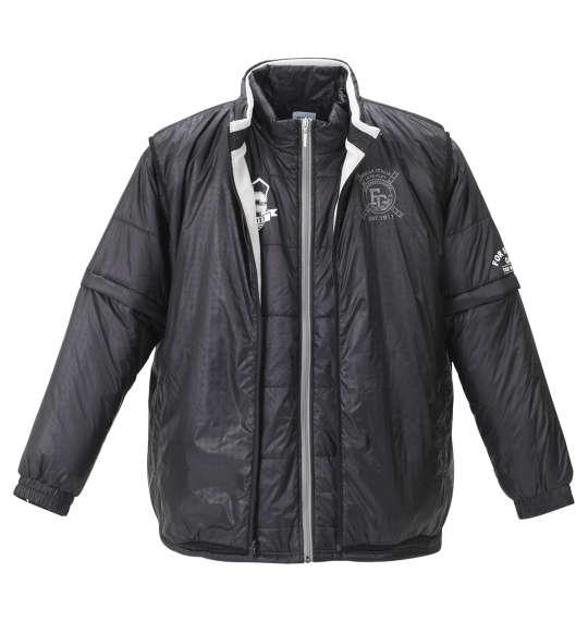 【大きいサイズ】【メンズ】 FILA GOLF 5WAYジャケット ブラック×グレー 1173-8325-2 [3L・4L・5L・6L]