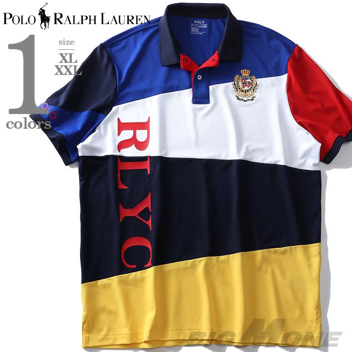 大きいサイズ メンズ POLO RALPH LAUREN ポロ ラルフローレン 半袖 デザイン ポロシャツ USA直輸入 710741080