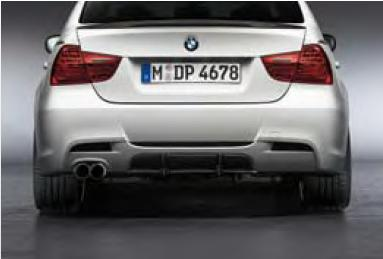 BMW Performance part 3 series 335i BMW E90/91 for aerodynamic and diffuser  BMW performance parts