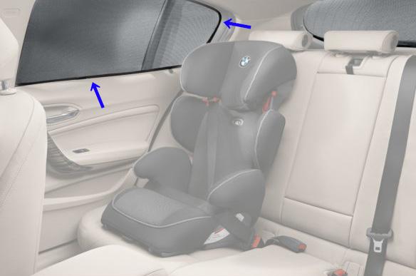 BMW 純正 F48 X1 リヤ サイド ウインドー サンスクリーンセット