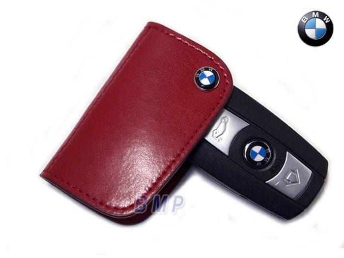 US limited edition BMW keychains BMW key cases leather / red E90 E91 E92  E93 E82E87 E60 E61E63 E64 E70 E53 X1 X3 X5 X6 Z4