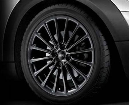 """BMW MINI アルミホイール 7X17 ET48 """"マルチ・スポーク R108(ブラック)"""" R50/R52/R53/R55/R56/R57/R58/R59"""