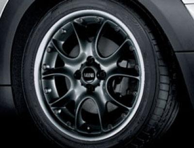 BMW MINI 用 アルミホイール 7×17 ET48 コンポジット ウエブ スポーク R98 ブラック R50 R52 R53 R55 R56 R57 R58 R59