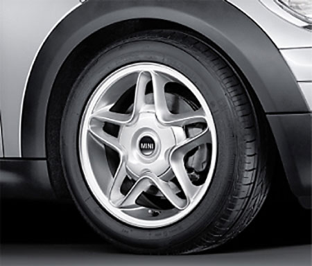 "BMW MINI アルミホイール 6.5X16 ET48 ""Sウインダー R102(ブライト・シルバー)"" R50/R52/R53/R55/R56/R57"