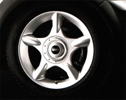 """BMW MINI アクセサリー MINI 前期 R50/R53/R52用 アルミホイール 6.5X16 ET48 """"5-スター・スポーク R83(シルバー)"""""""