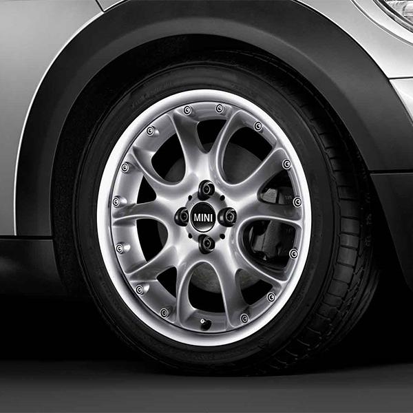 BMW MINI 用 アルミホイール 7X17 ET48 コンポジット ウエブ スポーク R98 シルバー R50 R52 R53 R55 R56 R57 R58 R59