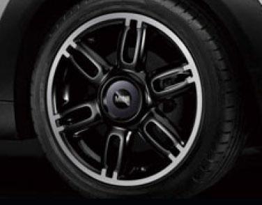 BMW BMW MINI RAY アルミホイール 7J×17 ET48 ツイン・スポーク R128(ブラック) R55/R56/R57/R58/R59