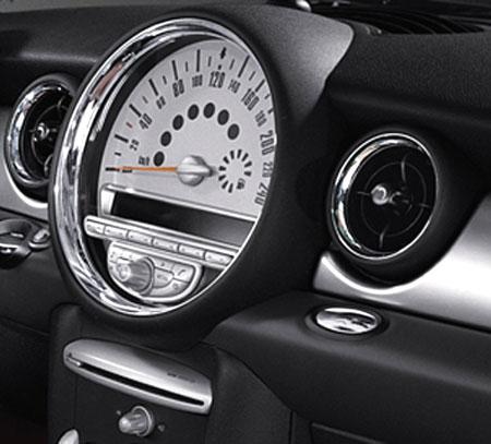 BMW MINI アクセサリー R56 ハッチバック R55 CLUBMAN 用 クローム調トリム スピード メーター用