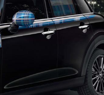 BMW MINI F55 5 DOOR 用 サイド ストライプ セット スピードウェル ブルー