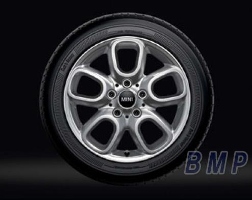 【BMW MINI 純正】 MINI アルミホイール ループ・スポーク494(シルバー) 6.5J×16 アロイ・ホイール 単体 1本