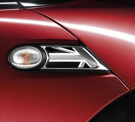 BMW MINI アクセサリー R56 R57 R55 R58 R59用 サイド スカットルセット BLACK JACK