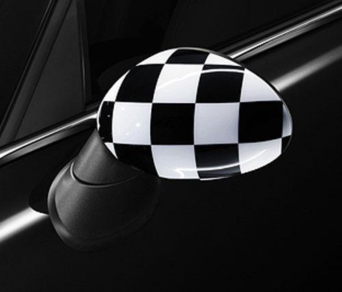 """BMW MINI アクセサリー MINI R56/R57/R55/R58/R59/R60用 ミラーカバーセット""""CHEQUERED FLAG"""""""