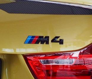 BMW 純正 専門店 カスタム パーツ アクセサリー 車用品 贈答品 F82 ブラック ◆高品質 M4 package コンペティション パッケージ エンブレム Competition