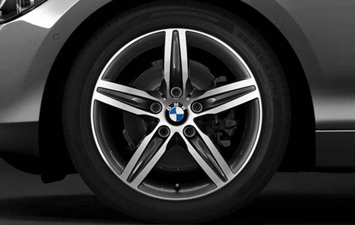 BMW 純正 アロイ ホイール 1シリーズ F20 スタースポーク スタイリング379 フロント リヤ 7.5J×17 単体 1本