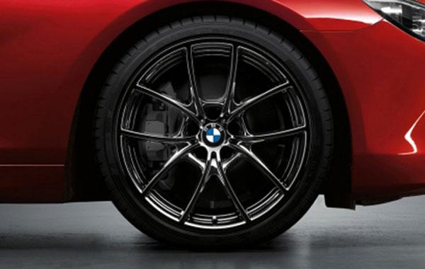 【BMW純正】BMW F12/F13/F06 6シリーズ BMW Vスポーク・スタイリング356 (リキッド・ブラック) 単体 フロント 8.5J×20