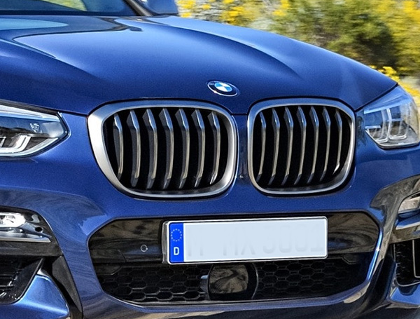 【BMW純正】BMW G01 X3 M40iX マット・クローム・キドニー・グリル セット