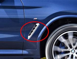 BMW 純正 G01 X3 M40iX サイド グリル セット Cerium Grey セリウムグレイ