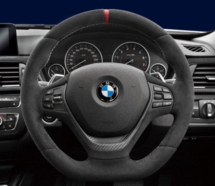 【BMW純正】BMW F30/F31/F34/F32/F33 BMW M Performance スポーツ・ステアリング・ホイール レッド・センター・マーク AT車用
