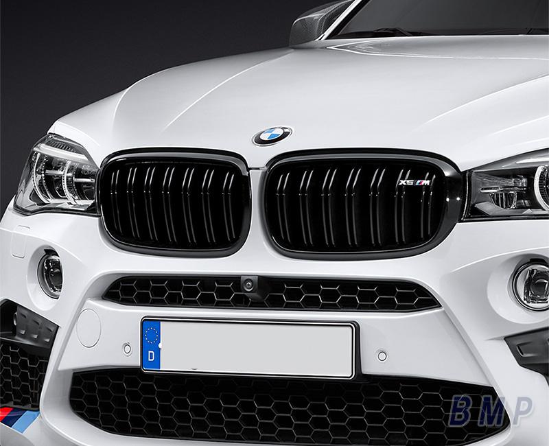 【BMW純正】【送料無料】BMW F85 X5M BMW M Performance ブラック・キドニー・グリル・セット
