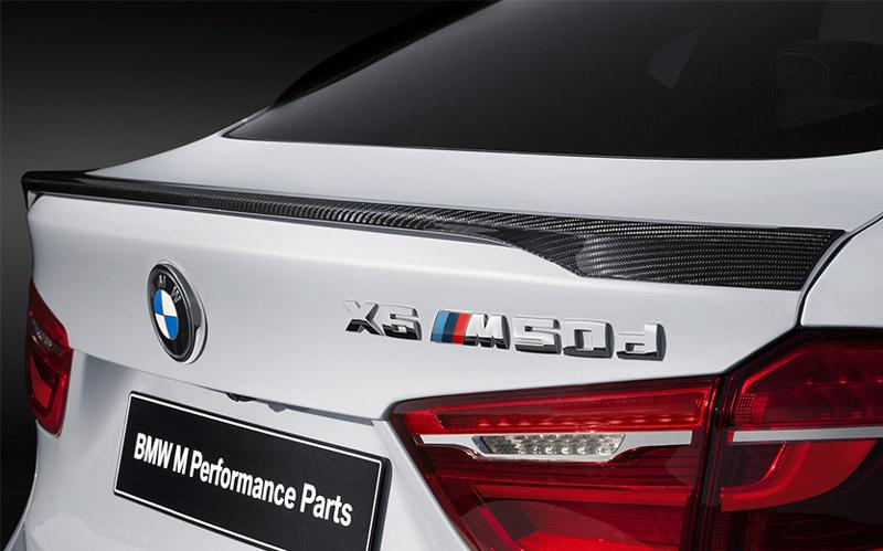 BMW 純正 F16 X6 M Performance カーボン リヤ トランク スポイラー パフォーマンス