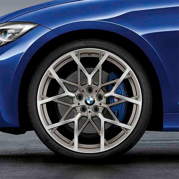 BMW 純正 純正 G20 3シリーズ アロイ ホイール M Performance Yスポーク スタイリング 795M バイ カラー フェリック グレー 単体 リア用 8.5J×20 パフォーマンス
