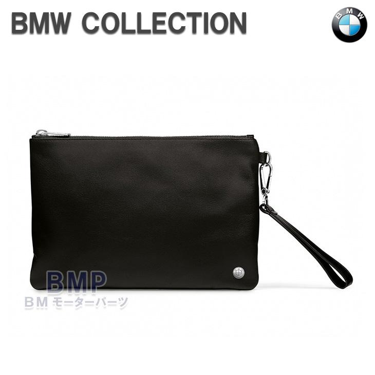 【店内全品200円offクーポン】BMW 純正 BMW COLLECTION ポーチ メンズ 本革 レザー クラッチバッグ