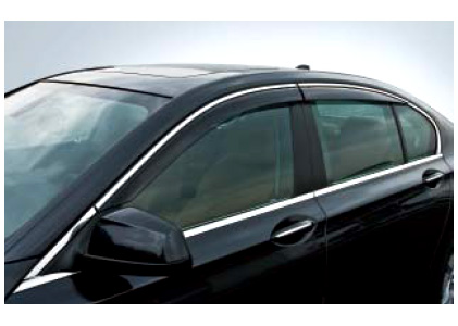 BMW 純正 G12 7シリーズ ロング用 ドアバイザー クロームライン アルミ マット付