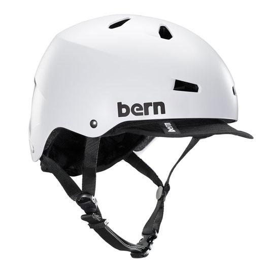 bern - MACON VISOR ALL SEASON JAPANFIT サテンホワイト / バーン メーコン BMX スケート ヘルメット