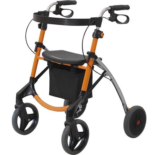 【送料無料】【代引不可】U Walker(ユーウォーカー) / TW-300 オレンジ【敬老の日】【プレゼント】【ギフト】【おしゃれ】【折りたたみ】【手元ブレーキ】【老人車】【歩行器・歩行車】【4輪】【手押し車】
