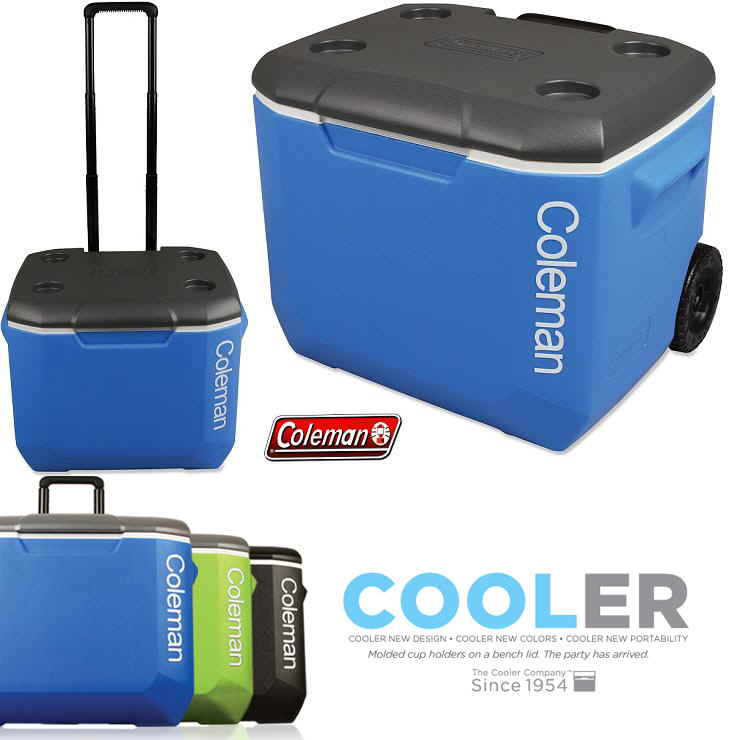 ♦ Japan 未発売 products ♦ COLEMAN ♦ Coleman ♦ 60 QT WHEELED COOLER ♦ wheel  coolers ♦ BLUE/WHITE ♦